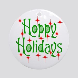HoppyHolidays.png Ornament (Round)