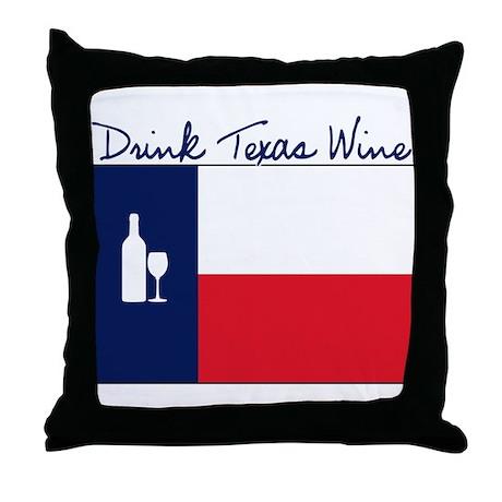 DrinkTexasWine Throw Pillow