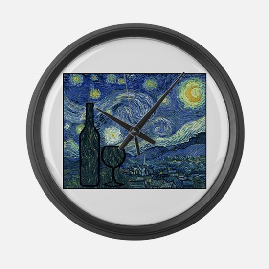 WineyNight.png Large Wall Clock