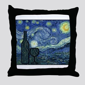 WineyNight Throw Pillow