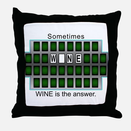 Unique Answer Throw Pillow