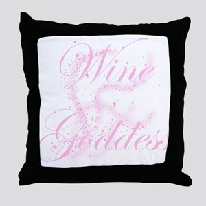 WineGoddessGlitter Throw Pillow