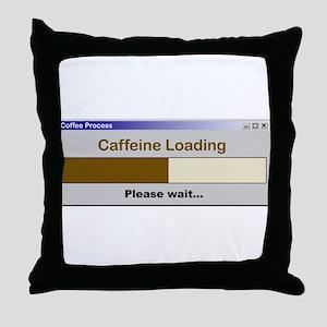 CaffeineLoading Throw Pillow