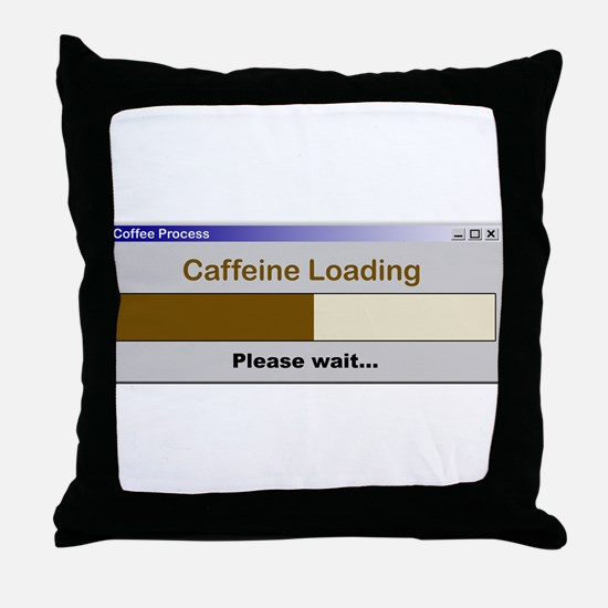 CaffeineLoading.PNG Throw Pillow