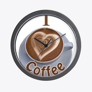 ILoveCoffeeCup.PNG Wall Clock