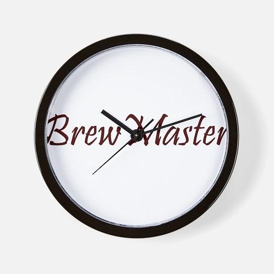 BrewMasterFilledBrown.png Wall Clock