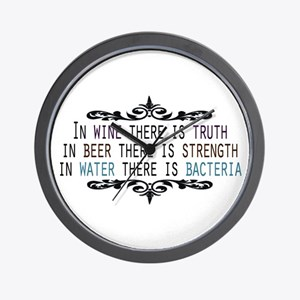 WineTruthBeerStrength.png Wall Clock