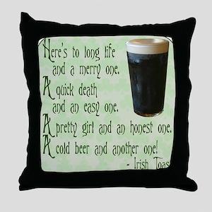 IrishToast Throw Pillow