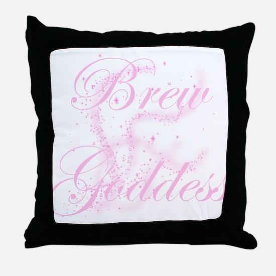 BrewGoddessGlitter.png Throw Pillow