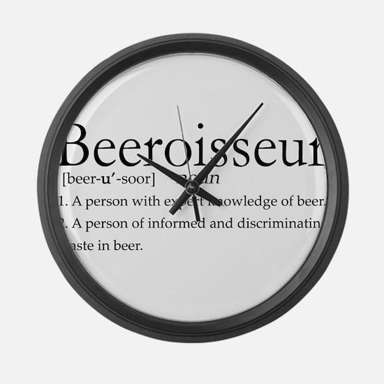 BeeroisseurDark.png Large Wall Clock