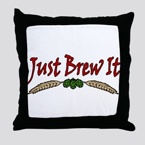 JustBrewIt-White Throw Pillow