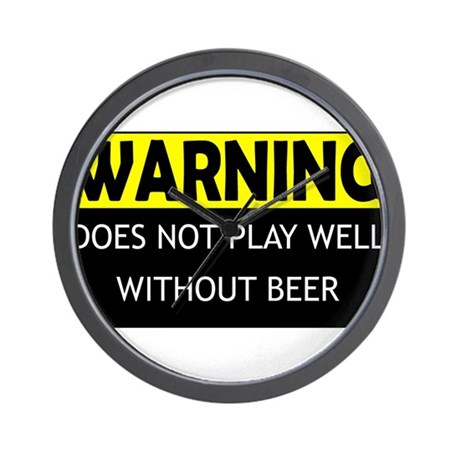 DoesNotPlayWellWithBeer.png Wall Clock