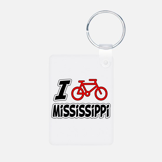 I Love Cycling Mississippi Keychains