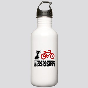 I Love Cycling Mississippi Stainless Water Bottle
