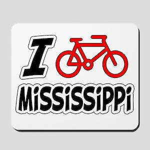 I Love Cycling Mississippi Mousepad