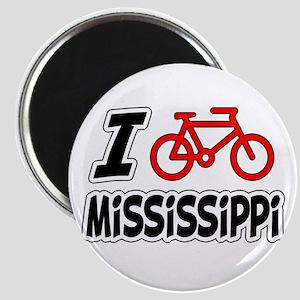 I Love Cycling Mississippi Magnet