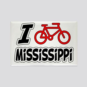 I Love Cycling Mississippi Rectangle Magnet