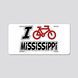 I Love Cycling Mississippi Aluminum License Plate