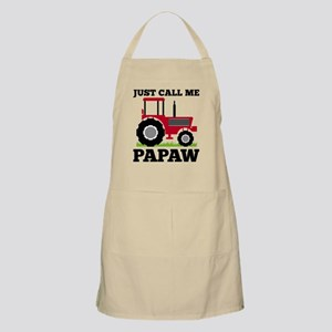 Just Call me Papaw Red Tractor Light Apron