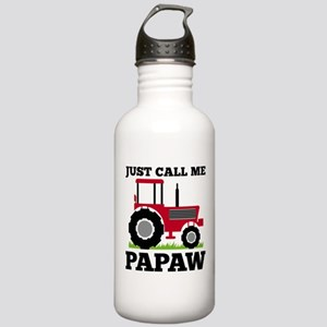 Just Call me Papaw Red Tractor Water Bottle