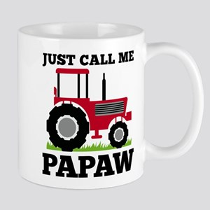 Just Call me Papaw Red Tractor Mugs