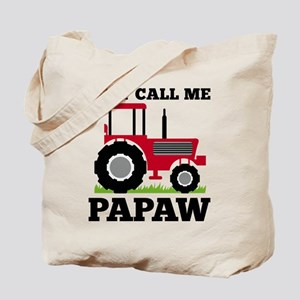Just Call me Papaw Red Tractor Tote Bag