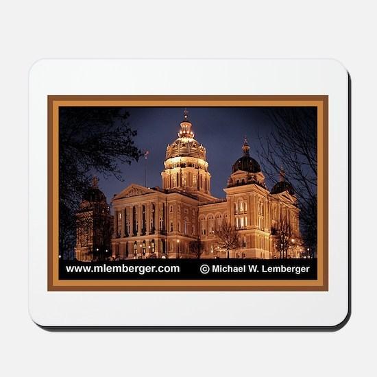 Iowa Capitol at Night Mousepad