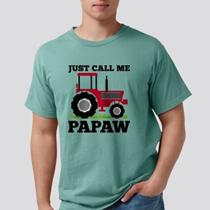 Just Call me Papaw Red Tractor Mens Comfort Colors