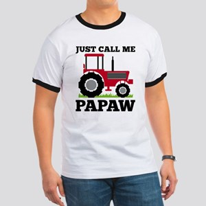 Just Call me Papaw Red Tractor T-Shirt