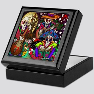 Day of the Dead Music art Keepsake Box