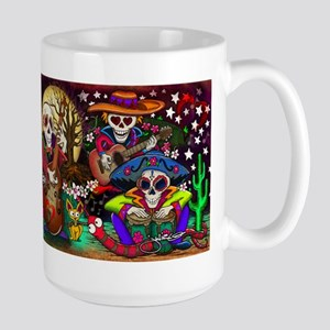Day of the Dead Music art by Julie Oakes Large Mug