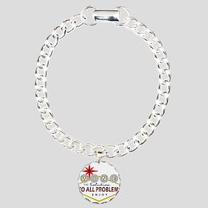 Las Vegas Wine Charm Bracelet, One Charm