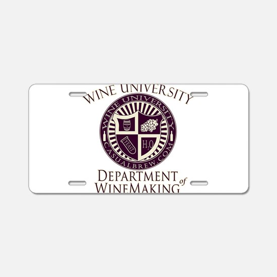WineUDeptWineMaking.PNG Aluminum License Plate