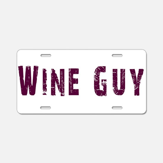 WineGuy.png Aluminum License Plate