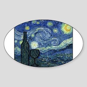 WineyNight Sticker (Oval)