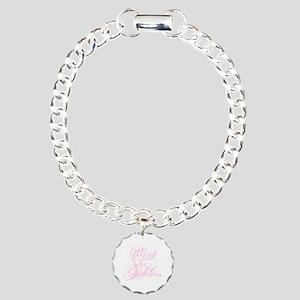 WineGoddessGlitter.png Charm Bracelet, One Charm