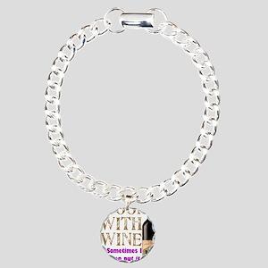 ICookWithWine Charm Bracelet, One Charm