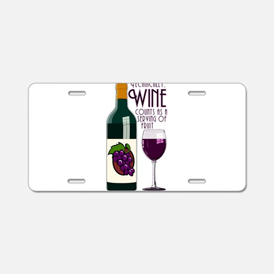 WineFruitServing.png Aluminum License Plate