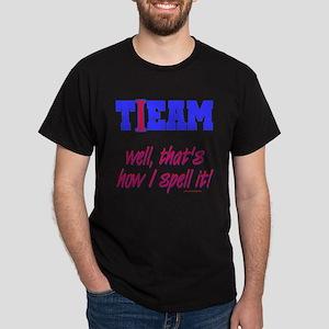 tIeam Player Black T-Shirt