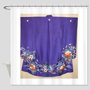 Antique Japanese Kimono Shower Curtain
