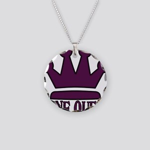 3-WineQueen Necklace Circle Charm