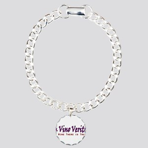 InVinoVeritas.PNG Charm Bracelet, One Charm