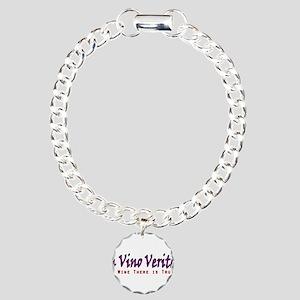 InVinoVeritas Charm Bracelet, One Charm