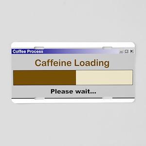 CaffeineLoading Aluminum License Plate