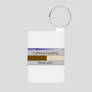 CaffeineLoading Aluminum Photo Keychain