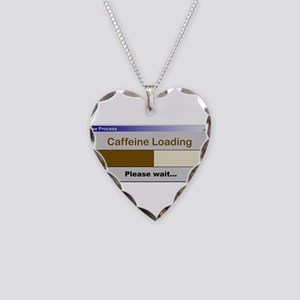 CaffeineLoading Necklace Heart Charm