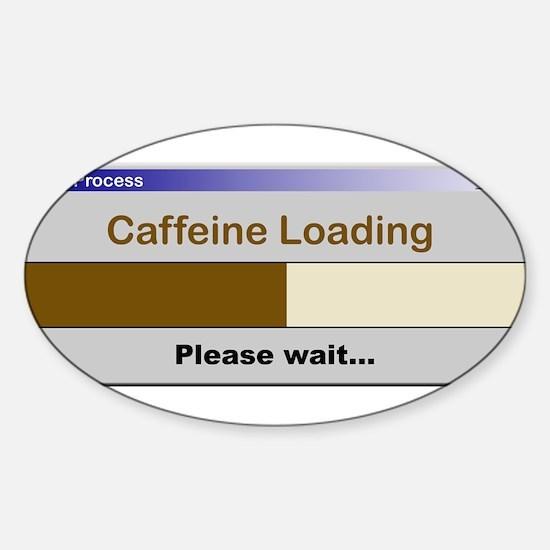 CaffeineLoading.PNG Sticker (Oval)