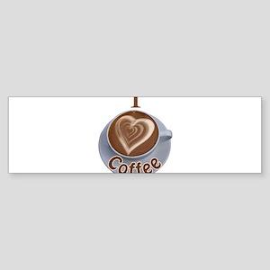 ILoveCoffeeCup Sticker (Bumper)