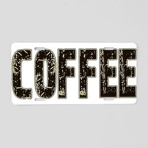 CoffeeBrownCream Aluminum License Plate