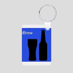 iBrewBlue Aluminum Photo Keychain